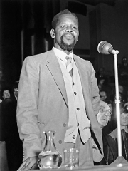 Portrait of Oliver Tambo Speaking, 1960
