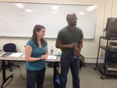 Facilitators Kristin Helms and Mohammed Bey
