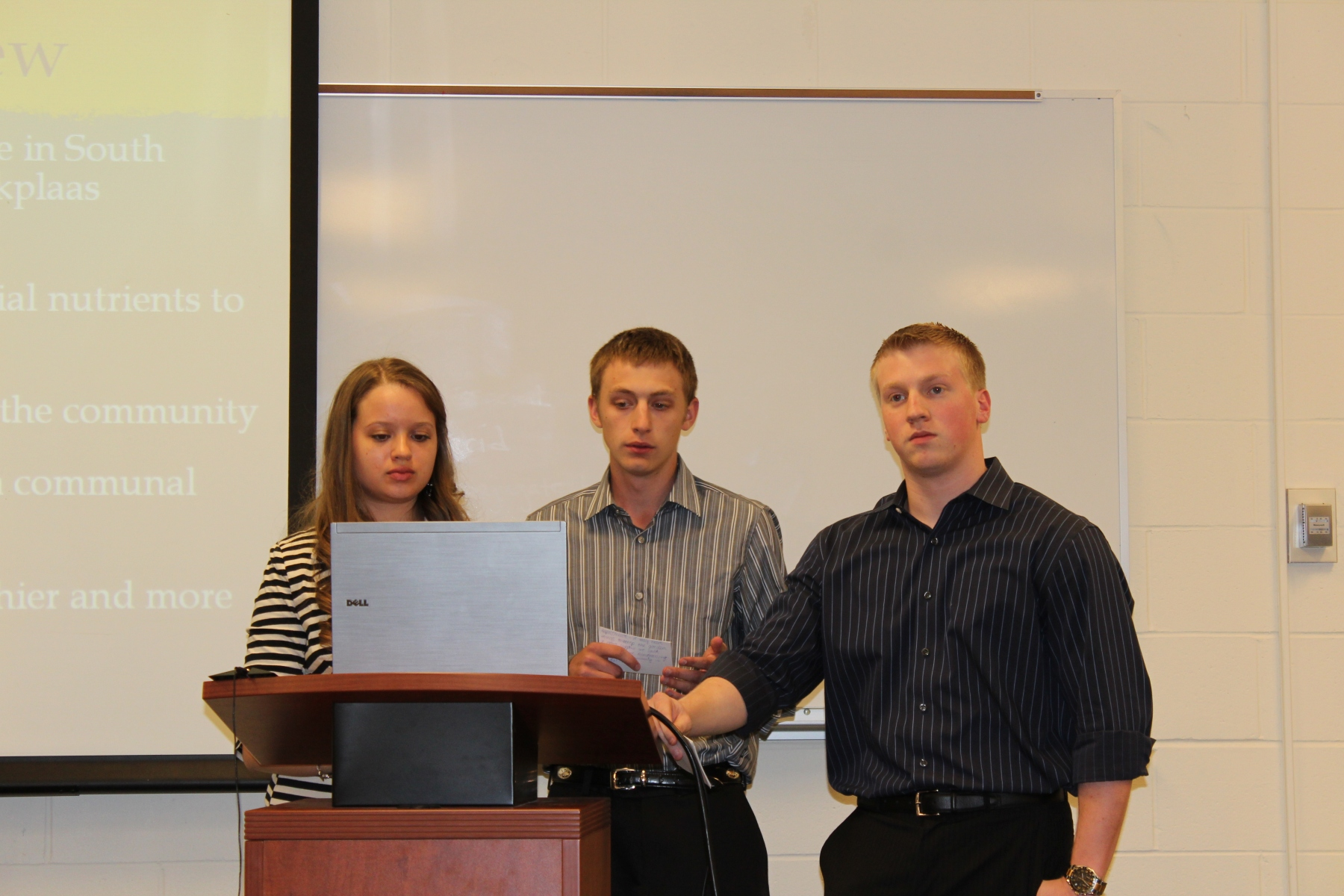 Chrystal, Vinny, and Evan share their vegetable garden service project.
