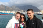 Vinny, Larisa, & Ryan on boat to Robben Island.
