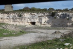 "Lime Quarry at Robben Island. Known as ""Robben Island University."""