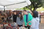 Ryan, Jazmin, & Bobby perusing a vendor's wares at Greenmarket Square.