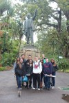 Class visiting the Cecil Rhodes Monument at the Company Gardens in Cape Town. 