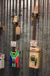 Guitars made out of Castrol Oil tin cans. 