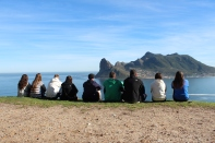 Students taking in Hout's Bay. Cape Peninsula Tour