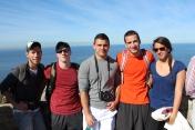 Mark, Evan, Ryan, Bobby, & Jazmin at Cape Point. Cape Peninsula Tour