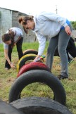 Emily & Michelle adding some color to the tires.