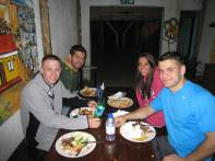 Braai at Lebo's (L to R): Vinny, Peter, Larisa, Ryan