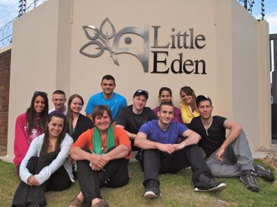 Group shot with Lucy Slaviero, CEO of Little Eden. Front (l to r): Emily, Lucy, Bobby Back (l to r): Larisa, Vinny, Chrystal, Ryan, Evan, Jazmin, Michelle, Mark