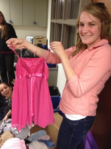 Alison showing off a dress that will hopefully make someone happy. Clearly it made me happy!