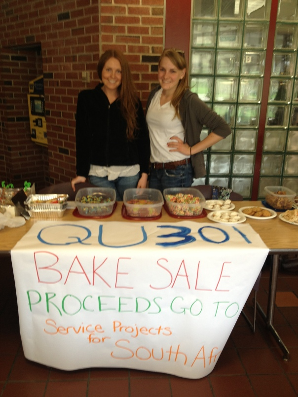 Isabelle & Alison at the QU301 South Africa Bake Sale Fundraiser.