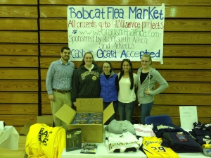 The beginning of the Bobcat Flea Market.