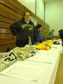 Steph at the silent auction table.