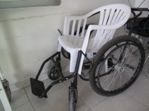 Wheelchair at Edna's hospital
