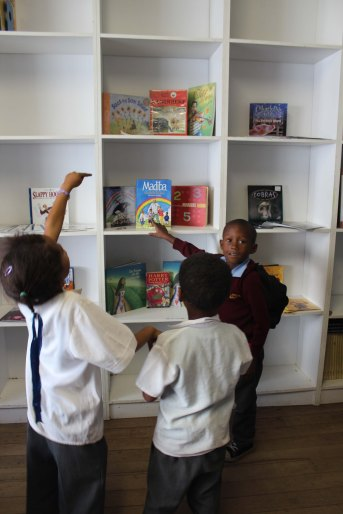 Children excited for new books in library