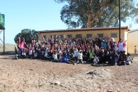 Picture of QU301 South Africa class with Vaatjie Primary School