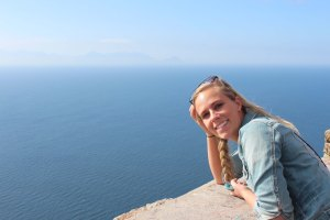 Kristyn at Cape Point