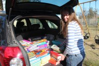 Books donated to the Tippy Toes Fpundation for the Vaatjie Primary School.