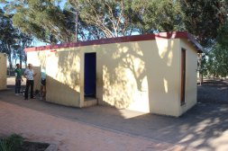 Bathroom at Vaatjie Primary School. No running water or toilet paper. Project: Paint inside.