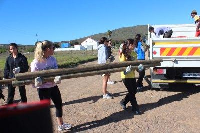Kristyn & Adriana reloading truck
