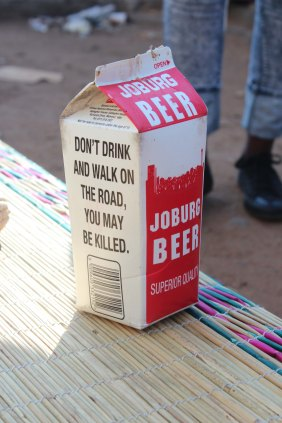The traditional Joburg beer.