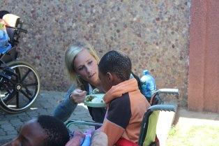 Kristyn serving lunch
