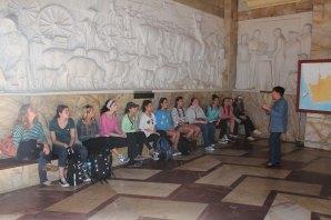 Students inside Voortrekker Monument