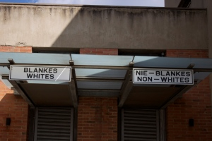 """Whites Only"" and ""Non-Whites"" Apartheid Museum Signs"