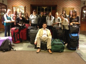 The 2013 QU301 South Africa class with all their suitcases filled with donations.