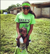 Me and Alisa playing in the field on Batey 50 day!