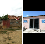 A before and after of some of the homes in Batey 50 in the Dominican Republic!